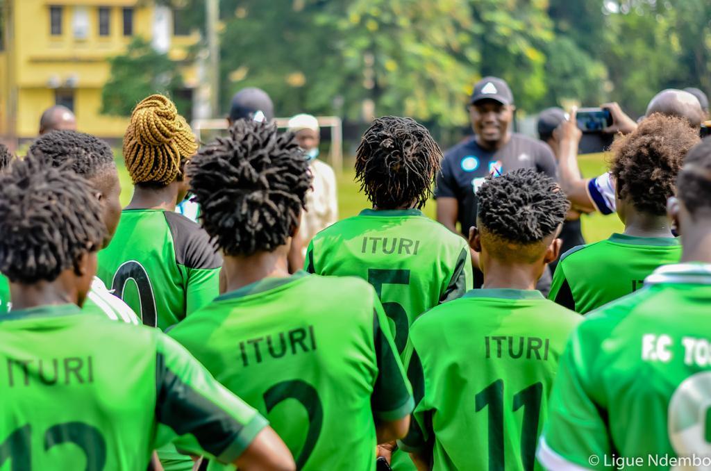 Visite des équipes féminines de l'Ituri aux installations de la Ligue Ndembo.